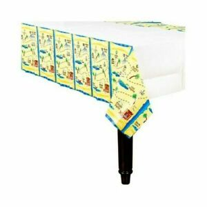 PIRATE TREASURE BIRTHDAY RECTANGULAR TABLECLOTH TABLE COVER Paper
