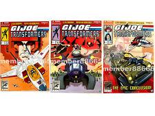 New Hasbro SDCC GI Joe vs Transformers 2011 2012 2013 3 Sealed Sets Comic Con