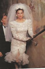 Watters Wedding Dress Gown Knee Length with Dimension Lace And Veil Elbow Length