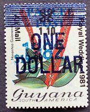 Guyana. The Royal Wedding 1981. Airmail Blue Overprint. Revalued. (RS25)