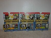 Group of (3) Scan to Play Video Game Sick Bricks 2 Character Packs
