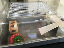 Pets at Home Medium Plastic  Hamster Cage Used. With Strawberry house and toy