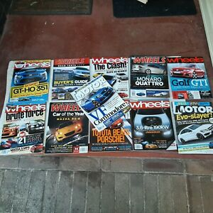 Wheels and Motor automotive magazines, Lot of 11. 2003-2012