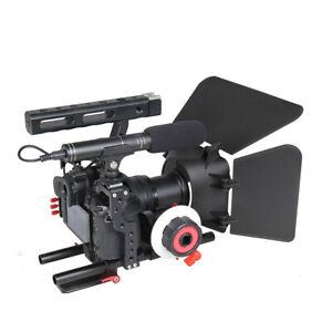 Tragbare Kamera Video Rig Handheld Stabilizer Kit + Matte Box + Follow Focus