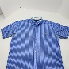 US Polo Assn Men's Short Sleeve Button Front Shirt Size XL