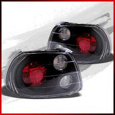 Fits 93-97 Honda Del Sol Altezza BLK Tail Lights Rear Brake Lamps Repl