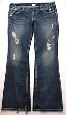 L378 Silver Jeans TUESDAY SLIM Low Rise Bootcut Stretch sz 18 x 33 (38x33) Long