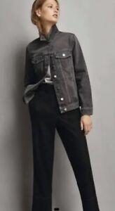 New Ex Massimo Dutti Grey Denim Jacket Size Small