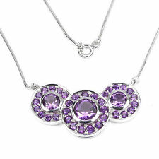 Choker Natural Amethyst Fine Necklaces & Pendants