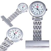 Silver Stainless Steel Quartz Fob Watch Brand New Nurse Time Piece Watch LI i