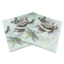 20pcs butterfly flower vintage paper napkins wedding party decor supplies LY