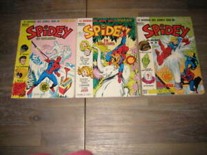 Lot comics SPIDEY 4+5+(7+8+9) lug 1980