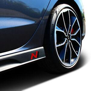 Hyundai i30N Inlay Aufkleber 2er Set Seitenschweller Carbon/Rot/Sw Folie K055