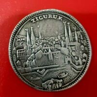 Zurich 1761 1/2 Thaler Silver Coin City View Switzerland Taler