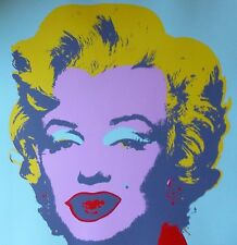 "ANDY WARHOL MARILYN MONROE SUNDAY B.MORNING Silk-screen 11.23 with COA 36""x36"""