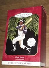 Hallmark 1997 Hank Aaron Keepsake Ornament 2nd in At the Ballpark Series NEW!!
