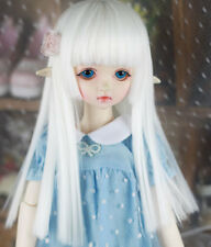 "6-7"" 1/6 BJD Long Snow White Straight Wig LUTS Doll SD DOD Soom DZ Hair UAL-z"