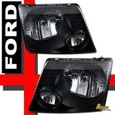 2002 2003 2004 2005 Ford Explorer 4Dr Headlights Lamps Black 1 Pair