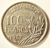 FRANCE 1957 B 100 FRANCS COIN KM# 919.2 [239]