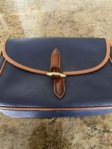 Dooney Bourke Air Force Blue Pebbled All Weather Leather.  RARE Loden Crossbody
