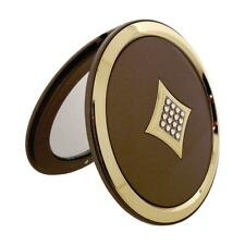 FMG 5x Magnification Compact Mirror made With Swarovski Crystals (Satin Gold)