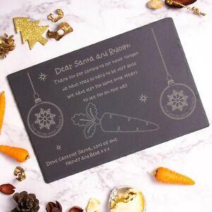 Personalised Christmas Eve Slate Board