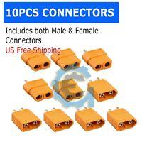 10 PCS XT-60 XT60 Male Female Gold Plated Bullet Connectors RC Lipo Power Plugs