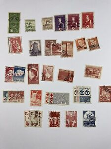 35+ Different Denmark Semi-Postal Stamps With Free US Shipping $40+ SCV