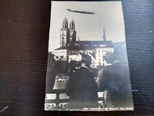 Vintage Luftschiff, Graf Zeppelin, Zurich, RPPC Photo Postcard