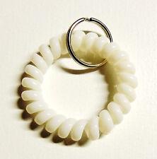 Spiralarmband weiß für Clicker Hundepfeifen Hund Katze Klicker Schlüsselring