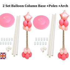 2 X Balloon Column Base Stand Builder Kits for Birthday Wedding Decorations