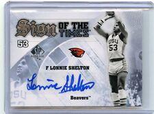 2013-14 SP AUTHENTIC #S-LS LONNIE SHELTON AUTOGRAPH, OREGON STATE BEAVERS 042416