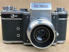 Rectaflex Standard B Camera w/50mm F/2.9 Angenieux Z2- Made In Roma Italy - Rare