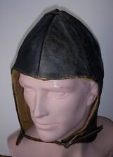 Scarce WWI US Navy Flight Helmet in Black Leather