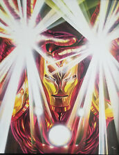 Alex Ross Iron Man Visions Giclee on Canvas Signed
