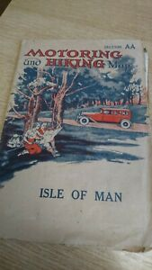 Vintage Antique 1920's 1930's Motoring & Hiking Map of IOM Isle of Man AA