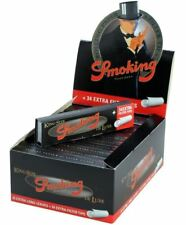 Smoking Rolling Paper King Size Deluxe With Filters Full Box of 24 Booklets
