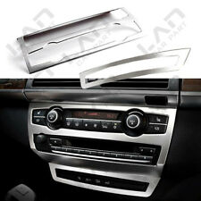 2X Stainless Interior Middle Console Panel Cover Trim For BMW X5 E70 2008- 2013