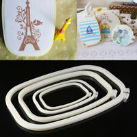 DIY Cross Stitch Machine Embroidery Frame Hoop Ring Hand Sewing Tool Craft