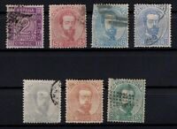 P135043/ SPAIN STAMPS – YEAR 1872 USED CLASSIC LOT – CV 157 $
