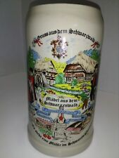 stein vintage german beer bier mug stein schwarzwald blackforest song