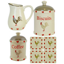 French Country Ceramic Kitchen Canisters & Jars