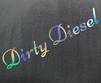 DIRTY DIESEL Chrome holographic vinyl sticker funny car decal JDM DUB bumper