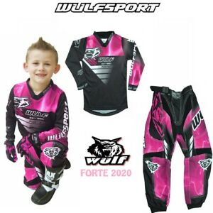 WULF 2020 KIDS FORTE MOTOCROSS DIRT BIKE JERSEY PANTS PROTECTIVE CLOTHING PINK