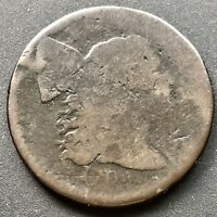 1794 Large Cent Liberty Cap Flowing Hair One Cent  Counterstamped #6332