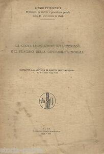 PUGLIA_BARI_PETROCELLI_GIURIDICA_MINORENNI_LEGISLAZIONE_IMPUTABILITA' MORALE_'35