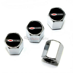 (4) Chevy Corvette Z06 Logo C5 C6 Chrome ABS Tire/Wheel Stem Valve CAPS Covers