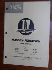 Massey Ferguson MF303 MHF303 MH333 MF404 MHF404 MF406 MH444 I&T Shop Manual MF10