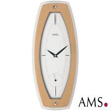 AMS 41 cuarzo de Reloj pared,Caja Madera Haya Chapado Cristal Mineral Oficina