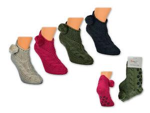 Damen ABS Socken Anti Rutsch Socken Haussocken Hausschuhe mit ABS Sohle